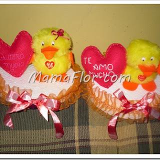 ¡Pollitos de peluche con mensaje de Amor! Aprende esta fácil manualidad