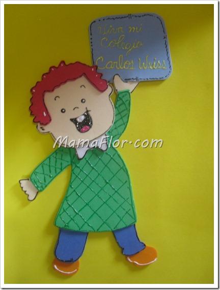 Decorando los cuadernos para los nenes