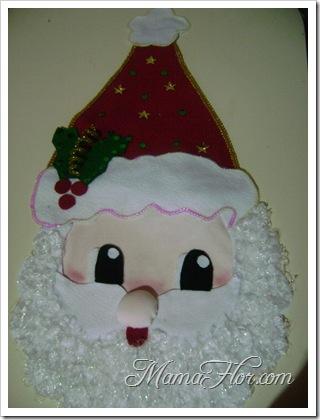 Como hacer un adorno de Papa Noel y colocarlo en la puerta