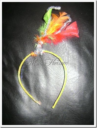 Vincha con plumas para regalar en las fiestas