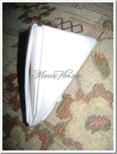 Como doblar una servilleta tipo servilletero