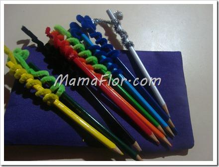 Como decorar los lapices de colores de nuestros ninos