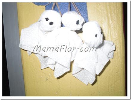 Como hacer fantasmitas con servilletas