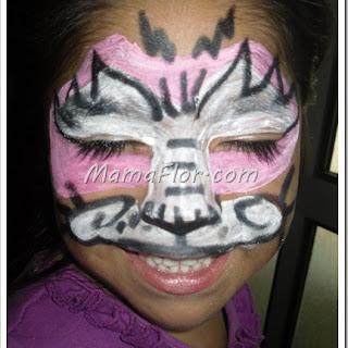 Como hacer carita pintada de tigresa