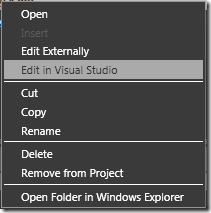 Edit in Visual Studio Context Menu