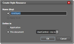 Create Style Resource Dialog