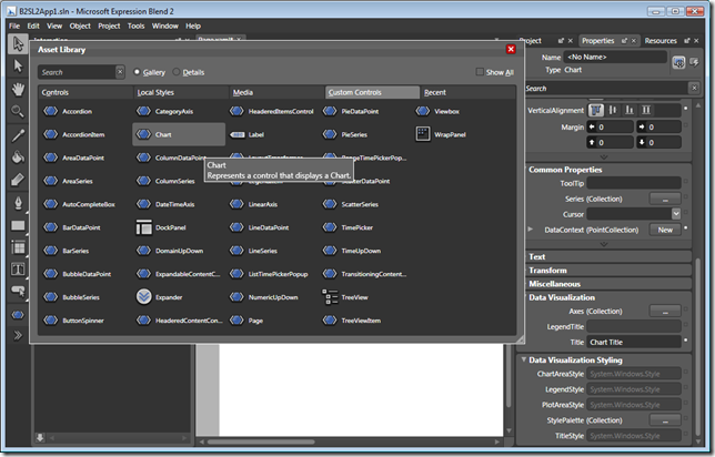 Toolkit Controls in Asset Library