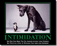 intimidation