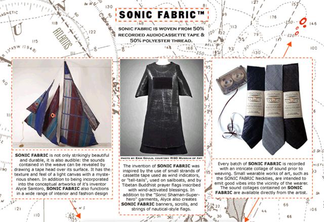 全新概念的材質,SONIC FABRIC