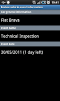 Screenshot of Car Info