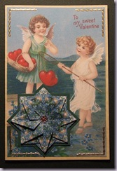victorian valentine card with tea bag folding.