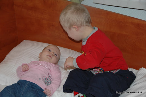 Rodzeństwo o poranku