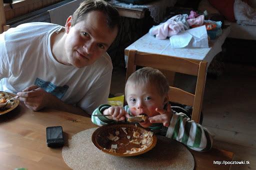 Jeść należy pełną buzią - szczególnie jak coś jest tak pyszne jak łazanki mojej mamusi!