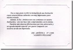 Salutación Escuela Alberto WILLIAMS