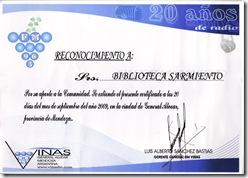 img001Reconocimiento Servicio a la Comunidad FM Viñas 2009