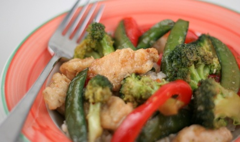 honey chicken stir fry