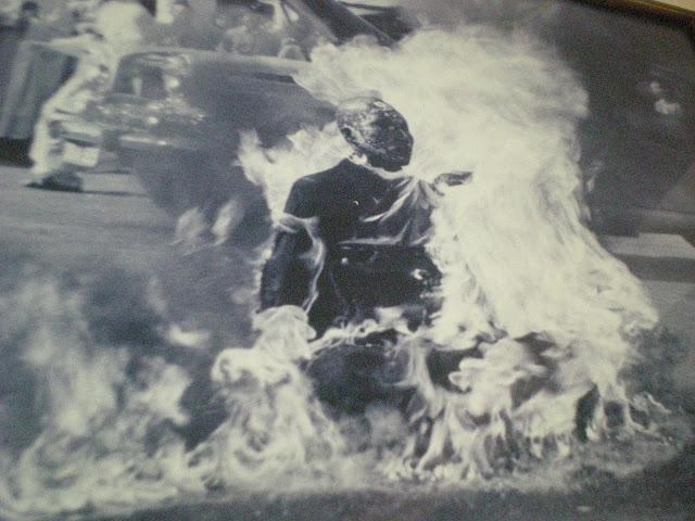 rage against the machine album cover monk burning
