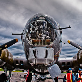 B-17 Bomber by David Sweeter - Transportation Airplanes ( hdr, planes )
