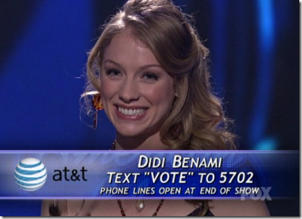 Didi Benami Playing With Fire American Idol Top 12 March 16