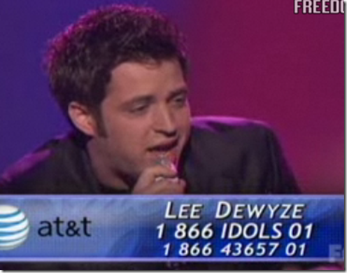Lee Dewyze The Letter American Idol Top 11 Performance March 23