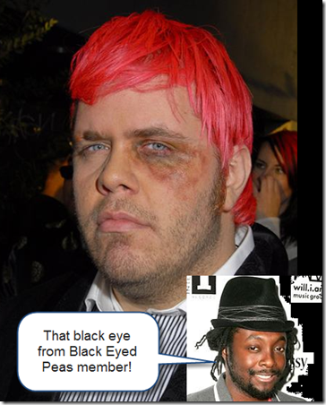 Perez Hilton mugged by Will i Am