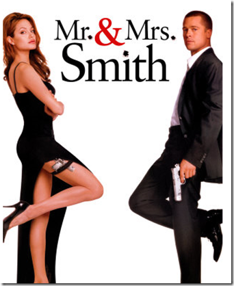 Brad and Angelina in Mr and Mrs Smith 2