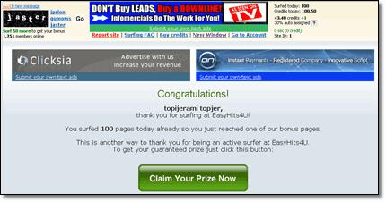 claim bonus easyhits4u