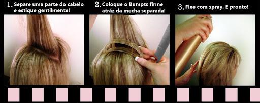 como colocar Bumpits nos cabelos