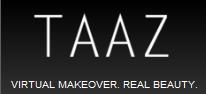 banner do site tazz para testar maquiagem online