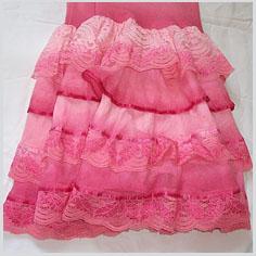 saia rosa que será tingida