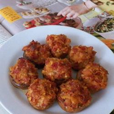 Pepperoni Stuffed Mushrooms