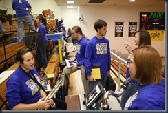 pep band set up 002