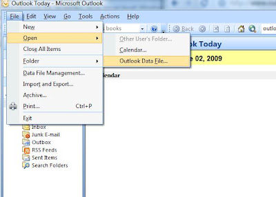 How to Open Existing PST file in Outlook