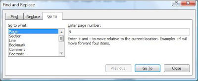 How to delete a range of pages in Word