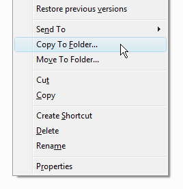 Add Copy To / Move To on Right-Click Menu in Windows 7 or Vista