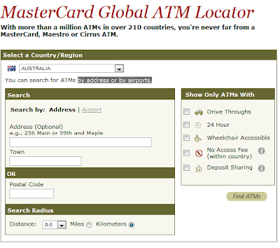 Locate A MasterCard ATM Anywhere In The World