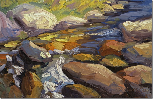 """Rushing Waters"" Oil painting by Debra Clemente limited edition print available"