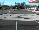Finished view of typical tank pit at gas station