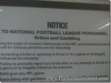 NFL bribes and gambling