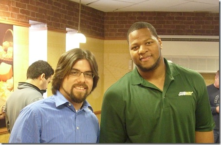 Ndamukong Suh and Ty from The Lions in Winter, a Detroit Lions blog