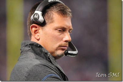 Detroit Lions head coach Jim Schwartz thinking it over.