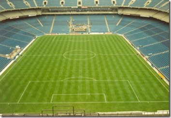 The Silverdome, ready to host the World Cup on its grass soccer field.