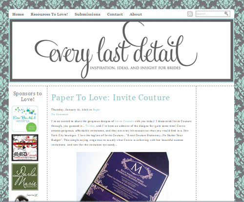 Every Last Detail Screen Shot Invite Couture Feature