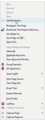 Menu kontekstowe Firefoxa