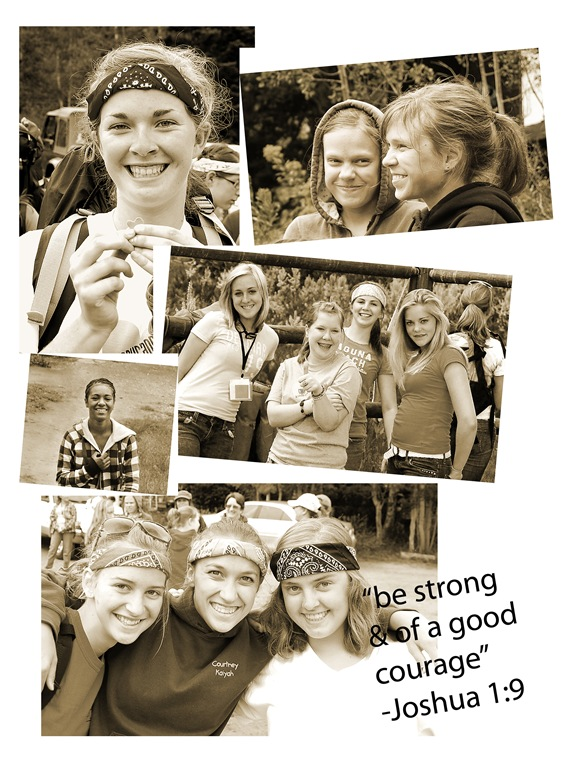 yw camp collage sepia