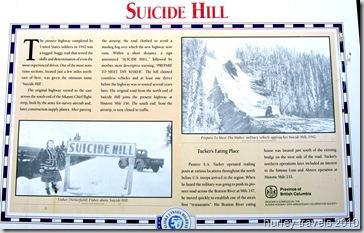 Alaska Highway construction history, Suicide Hill