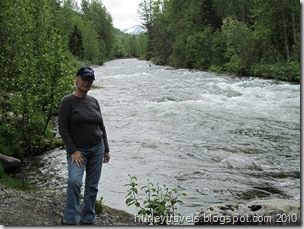 Nancy at Resurrection Creek, Hope, AK
