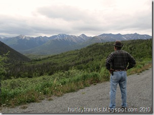 Jerry takes in the view on Palmer Creek Road, Hope, AK