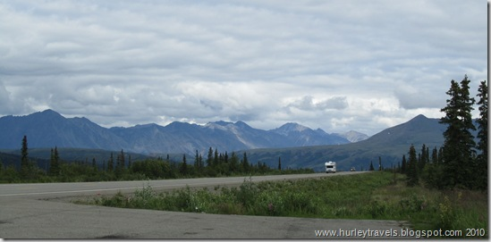 Broad Pass on the Parks Highway, 200 miles north of Anchorage and 160 miles south of Fairbanks.