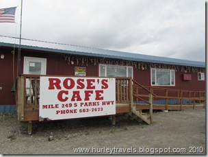 Rose's Cafe is on the Parks Highway in Healy, AK.  They serve a 1 lb. burger with all the trimmings, including an egg.  If you eat every bite you have your picture posted on the wall of fame in the entrance to the restaurant.